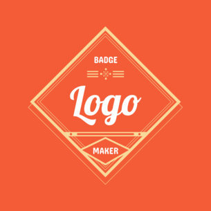 Retro Badge Logo Maker Red Theme 353c
