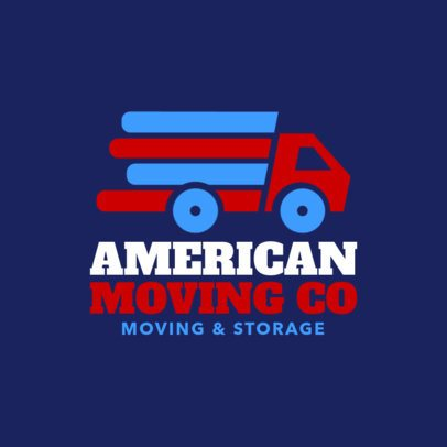 Moving Company Logo Maker with Truck Icon 1197b