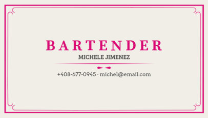 Business Card Maker for Bartenders with Drinking Icons 162b