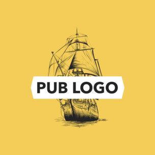 Online Logo Maker for a Pub with Ship Illustration 1022c