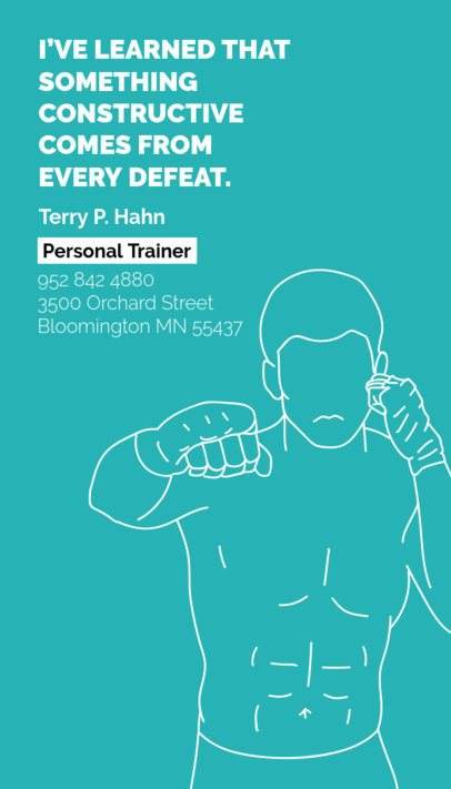 Vertical Personal Trainer Business Card Maker a342