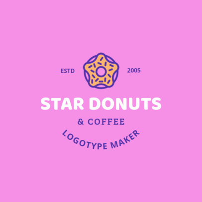 Logo Maker for Doughnut Shops 1232c
