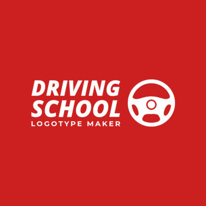 Online Logo Maker for Driving Schools with Steering Wheel Icons 1189d