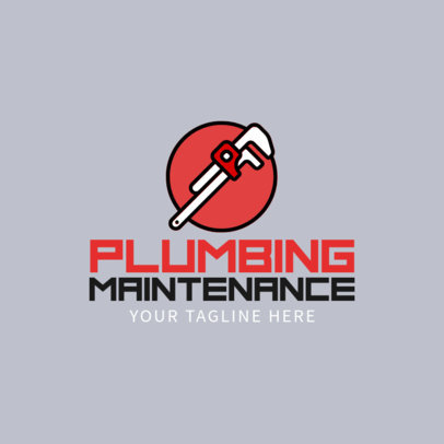 Plumbing Logo Maker with Wrench Icon 1167e