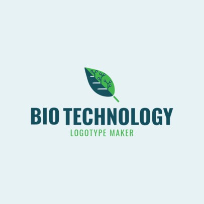 Custom Logo Maker for Biotechnology Company with Tech Icons 1172e