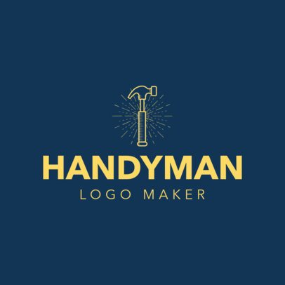 Handyman Logo Maker with Hammer Icon 1175b