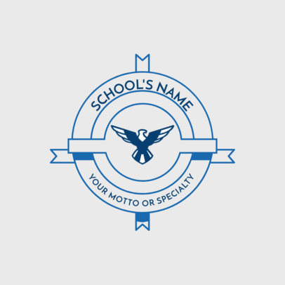 School Logo Maker with Geometric Graphics 1088a
