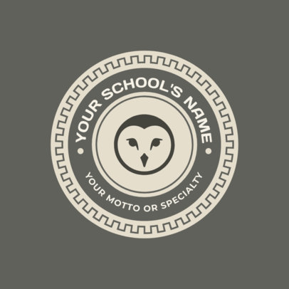 School Logo Maker with Owl Clipart 1088d