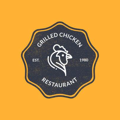 Chicken Restaurant Logo Maker with Chicken Graphic 1185c