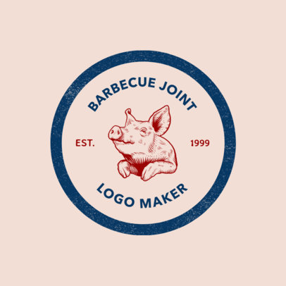 Online Logo Maker for a BBQ Restaurant 1185f