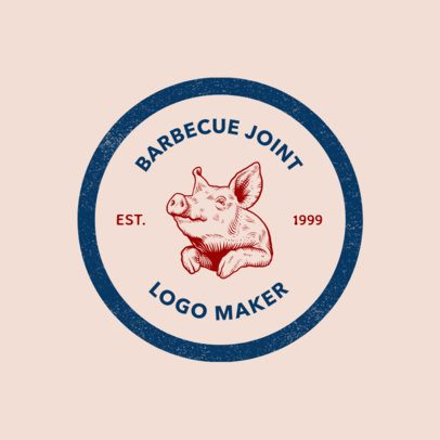 Online Logo Maker for a BBQ Restaurant 1185f