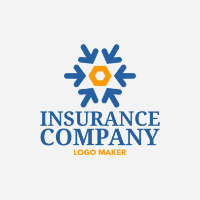 Insurance Company Logo Maker with Arrow Icons 1160e