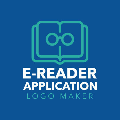 Custom Logo Maker for E-Reader Apps with Book Icons 1142d