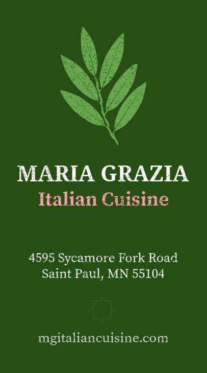 Italian Chef Business Card Maker 73a