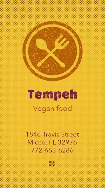 Vegan Business Card Maker 73d