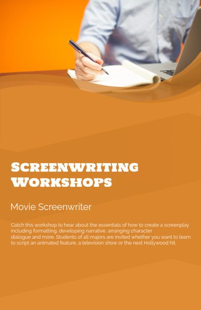 Online Flyer Maker for a Screenwriting Workshop 149d
