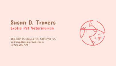 Business Card Maker for Exotic Pet Veterinarian 187d