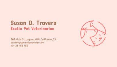 Business Card Maker for Exotic Pet Veterinarian 187d