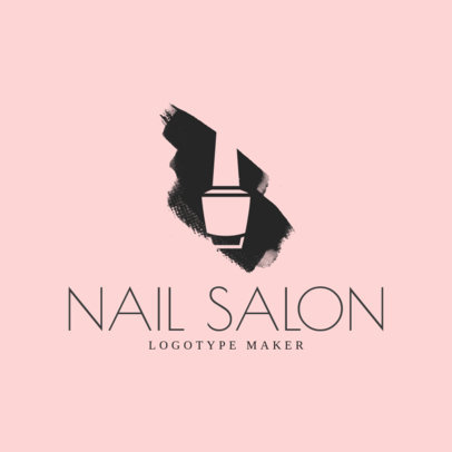 Negative Space Logo Maker for Nail Salons 1163b