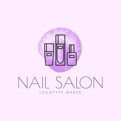 Nail Salon Logo Maker with Sleek Design 1163e