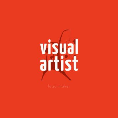 Modern Logo Template for Artists 1187e