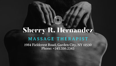 Massage Therapist Business Card Maker 195a