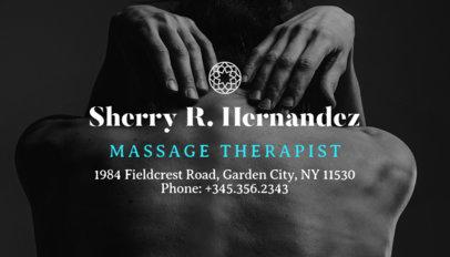 Massage Therapist Business Card Maker 195a-1903