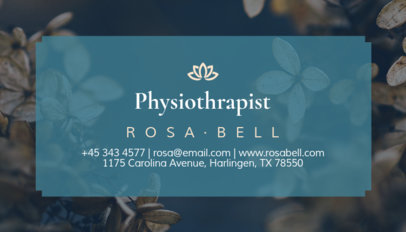 Physical Therapist Business Card Maker 195d