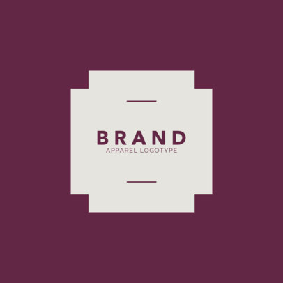 Clothing Brand Logo Maker Simple Design 1053a