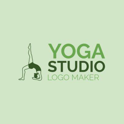 Online Logo Maker for a Yoga Studio Green Theme 1080b