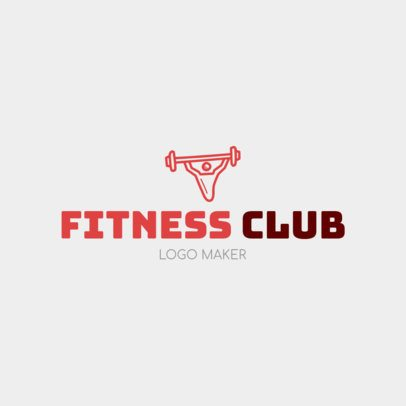 Online Logo Maker for a Fitness Club with Weights Icon 1080c