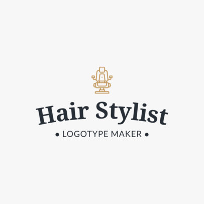 Hair Stylist Logo Maker 1119f