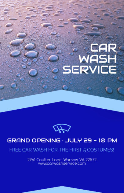 Flyer Template for Car Wash Service with Car Wash Graphics 188b