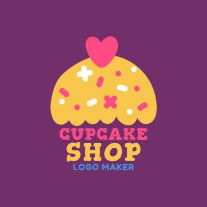 Cartoon Logo Maker for Cupcake Shops 1131c