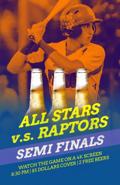Online Flyer Maker for Baseball Season in Beer Pubs 181c