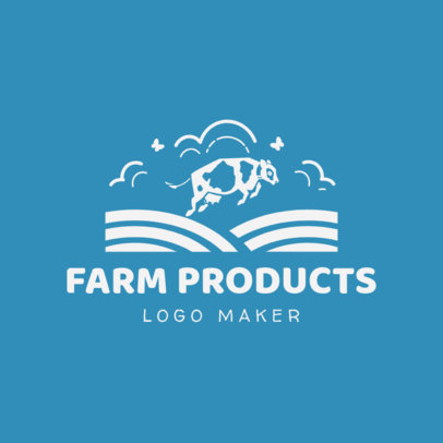 Farm Logo Maker for Farm Products with Cow Icon 1126e