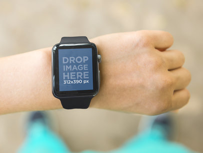 Going out for a Run and Wearing Apple Watch Sport Mockup
