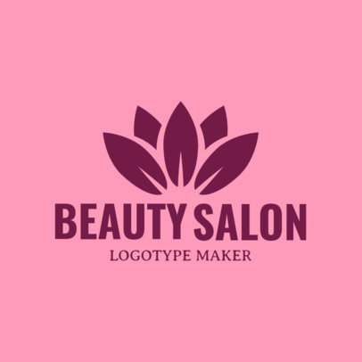 Beauty Salon Logo Maker with Lotus Flower Clipart 1137d