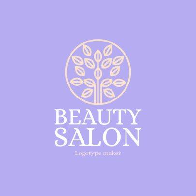 Beauty Salon Logo Maker with Tree Icon 1137e