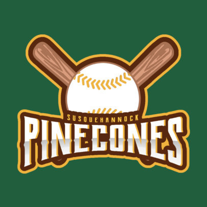 Sports Logo Maker for a Baseball Team with Baseball Clipart 172c