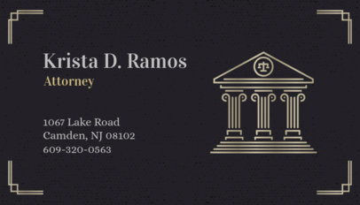 Lawyer Business Card Maker 87b