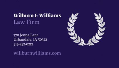 Professional Business Card Maker with Olive Branch Clipart 87d