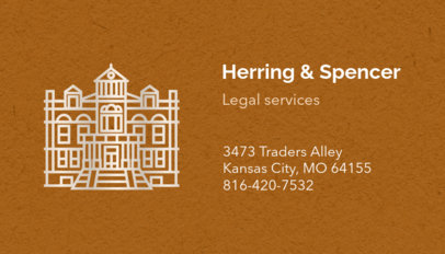 Law Firm Business Card Maker 87e