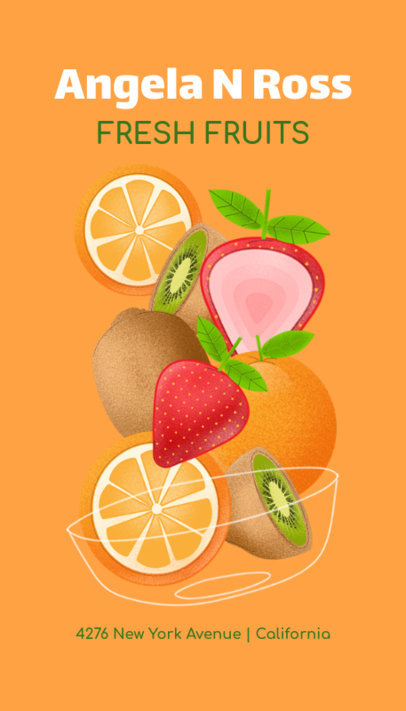 Business Card Maker with Fruits Graphics 191b