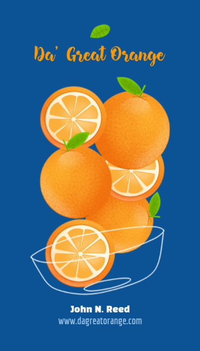 Business Card Maker with Oranges Graphics 191d