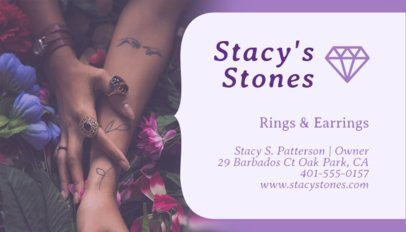Jewelry Designer Business Card Maker with Boho Theme 219a