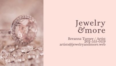 Glamorous Business Card Maker for Jewelry Store 219d