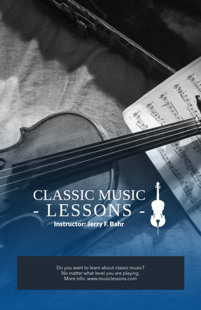 Online Flyer Maker for Classic Music Lessons 157b