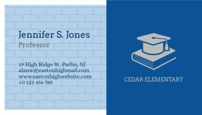 Professor Business Card Maker 228a