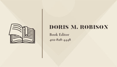 Online Business Card Maker for Book Editor with Geometry Shapes 221b
